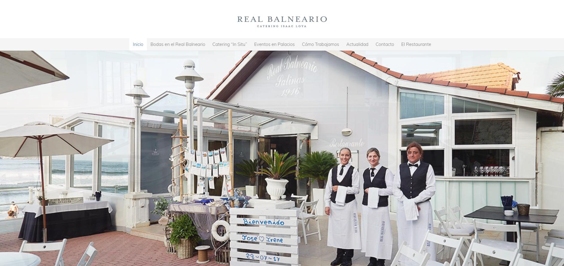 El Catering del Real Balneario estrena nueva página web